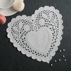 """Салфетка для торта и десерта 20,3×20,3 см """"Ажурное сердце"""", цвет белый - фото 308985526"""