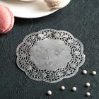 """Салфетка для торта и десерта 10 см """"Ажурный круг"""", цвет серебро - фото 308985530"""