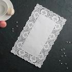 """Салфетка для торта и десерта 30×19 см """"Ажурный прямоугольник"""", цвет белый - фото 135181144"""