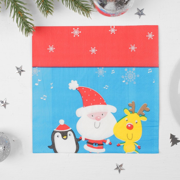 Салфетки бумажные «С Новым Годом, друзья!», 33х33 см, набор 20 шт.