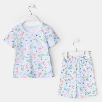 Пижама для мальчика, цвет белый, рост 98