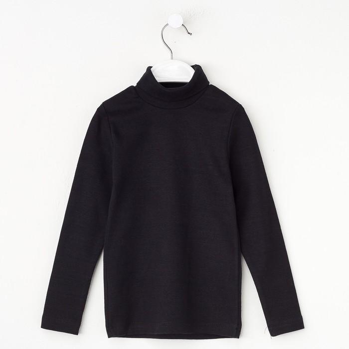 Водолазка детская, цвет черный, рост 104