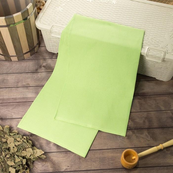 Полотенце вафельное банное 80х150 см, зеленый, хлопок