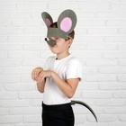 """Карнавальный набор""""Мышь""""уши,нос,хвост,поролон"""