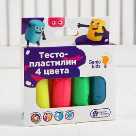 Набор для детской лепки «Тесто-пластилин 4 цвета»