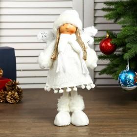 """Кукла интерьерная """"Ангелочек Геля в белом платье"""" 28х8х14 см"""