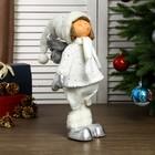 """Кукла интерьерная """"Ангелочек Веня в белом наряде, в серебристых сапожках"""" 54х13х19 см - фото 105497943"""