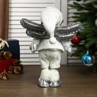 """Кукла интерьерная """"Ангелочек Веня в белом наряде, в серебристых сапожках"""" 54х13х19 см - фото 105497944"""