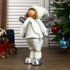 """Кукла интерьерная """"Ангелочек Веня в белом наряде, в серебристых сапожках"""" 54х13х19 см - фото 105497945"""