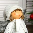 """Кукла интерьерная """"Ангелочек Веня в белом наряде, в серебристых сапожках"""" 54х13х19 см - фото 105497946"""