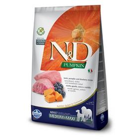 Сухой корм Farmina N&D беззерновой для собак средних и крупных пород, ягнёнок/черника/тыква, 12кг