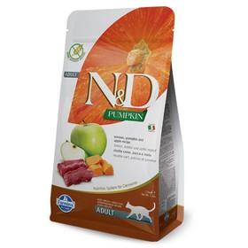 Сухой корм Farmina N&D беззерновой для кошек, оленина/яблоко/тыква, 1.5 кг