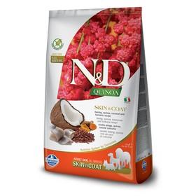Беззерновой корм Farmina N&D Dog для собак, сельдь/киноа, для здоровья кожи и шерсти, 2.5 кг
