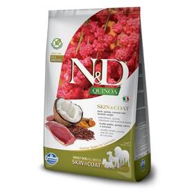 Беззерновой корм Farmina N&D Dog для собак, утка/киноа, для здоровья кожи и шерсти, 2.5 кг