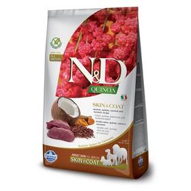 Беззерновой корм Farmina N&D Dog для собак, оленина/киноа, для здоровья кожи и шерсти, 2.5кг