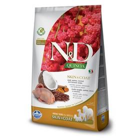 Беззерновой корм Farmina N&D Dog для собак, перепел/киноа, для здоровья кожи и шерсти, 2,5кг