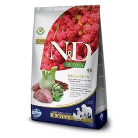 Беззерновой корм Farmina N&D Dog для собак, ягнёнок/киноа, для поддержки пищеварения, 7 кг