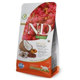 Сухой корм Farmina N&D беззерновой для кошек, сельдь/киноа, для здоровья кожи и шерсти, 1.5 кг   449