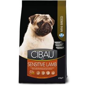 Сухой корм Farmina  Cibau Sensitive для собак мини пород, ягнёнок, 2.5 кг