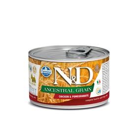Влажный корм Farmina N&D Low Grain Dog для собак мини пород, курица/гранат, 140 г