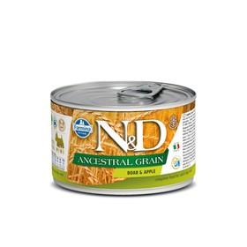 Влажный корм Farmina N&D Low Grain Dog для собак мини пород, , кабан/яблоко, 140 г