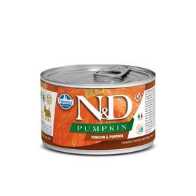 Влажный корм Farmina N&D Dog для собак мини пород, тыква/оленина, 140 г