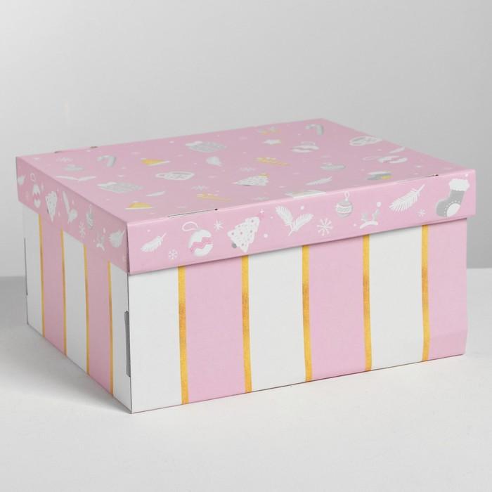 Складная коробка «Нежность», 31,2 × 25,6 × 16,1 см - фото 308276073