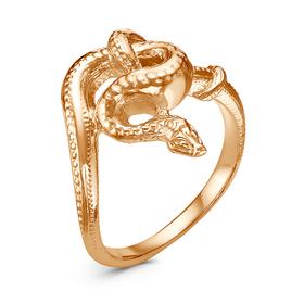 """Кольцо """"Змея"""" узел, позолота, 18 р-р"""