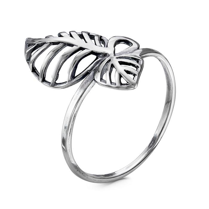 Кольцо ''Листья'', посеребрение с оксидированием, 18 р-р   4480048