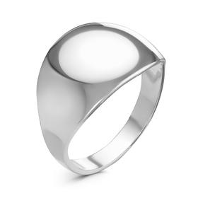 """Кольцо """"Минимал"""" широкое, посеребрение, 18 размер"""