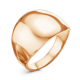 """Ring """"Minimal"""" wide, gold plated, 18 R-R"""