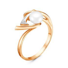 "Кольцо ""Сирена"", позолота, 17 размер"