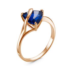 "Кольцо ""Гипноз"", позолота, цвет синий, 17,5 размер"