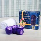 """Подарочный набор """"Самому лучшему учителю"""": мыльные лепестки 6 шт. и полотенце"""