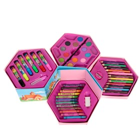 Набор для рисования в картонной коробке 6-угольный МИКС
