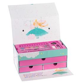 Набор для рисования в картонной коробке «Сундучок», МИКС