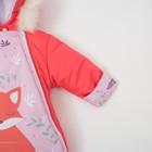 """Комбинезон-трансформер Крошка Я """"Лисички"""", розовый, р.26, рост 74-80 см - фото 105564380"""