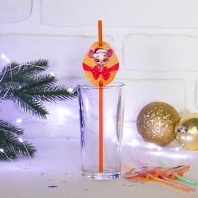 Трубочка для коктейля «Мышонок», набор 6 шт. в Донецке