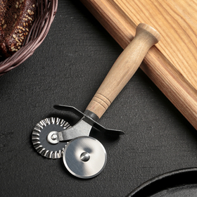 Нож для пиццы и теста двойной Доляна «Классик», 16 см