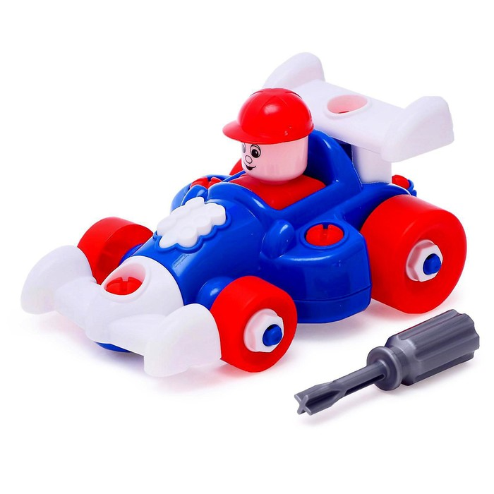 Конструктор «Автомобиль гоночный», 22 элемента, МИКС - фото 634270