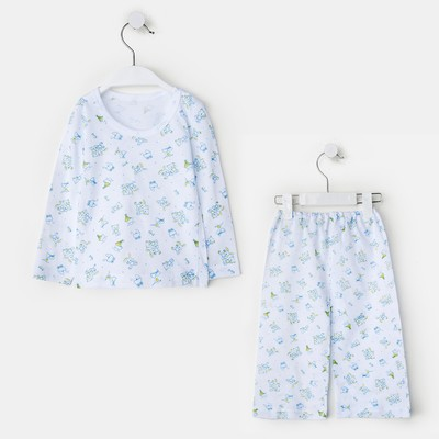 Пижама для мальчика, цвет белый/друзья, рост 98