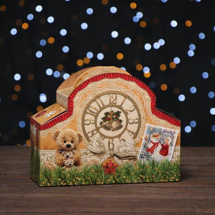"""Коробка картонная """"Часы ретро"""", 24 х 8,5 х 18,5 см"""