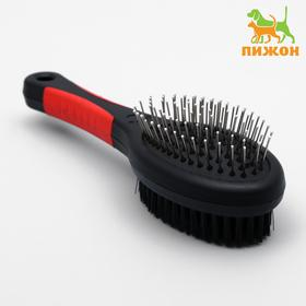 The brush-comb of bilateral oval, 21.5 cm, handle