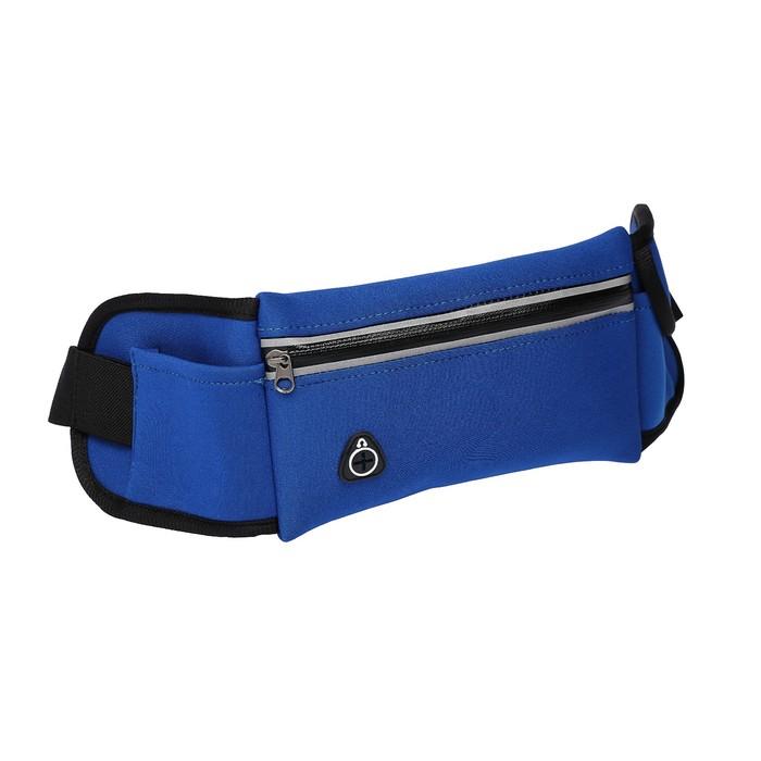 Спортивная сумка чехол на пояс LuazON, отсек на липучке и для бутылочки, синий