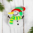Карнавальный значок «Снеговик», световой