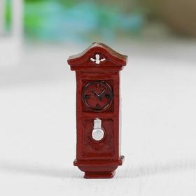Миниатюра кукольная «Часы напольные», набор 2 шт, размер 1 шт: 3,5×1,6×0,8 см