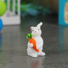 Миниатюра кукольная «Зайка с морковкой», набор 3 шт, размер 1 шт: 3,5×2×2,5 см