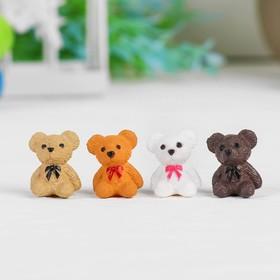 """Dollhouse miniature """"Bear"""", set of 4 PCs, size 1 PCs 1,8*1,4*1,1 cm, MIX color"""
