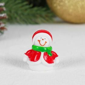 Миниатюра кукольная «Снеговик», набор 2 шт, размер 1 шт: 2,7×2,3×2,8 см