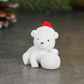 Миниатюра кукольная «Мишка в колпачке», набор 2 шт, размер 1 шт: 3×2,5×3,5 см